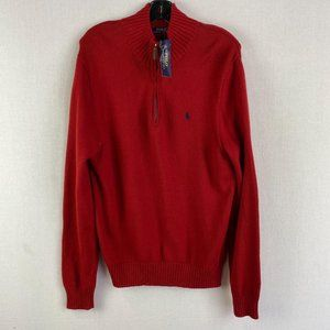 POLO By Ralph Lauren Red Zip Knit Jacket NWT